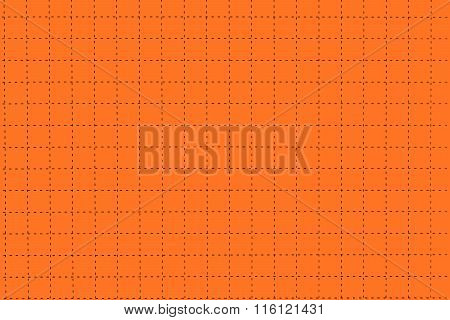 Orange Plastic Board With Dotted Line Like As Graph Paper