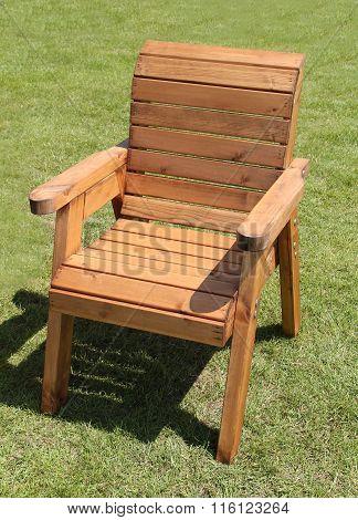 Wooden Garden Chair.