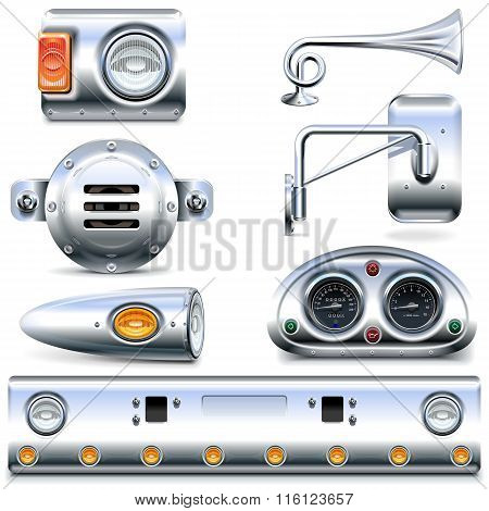 Vector Chromed Truck Parts Set 3