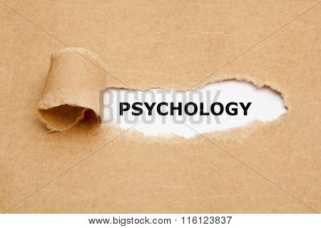 Psychology Torn Paper Concept