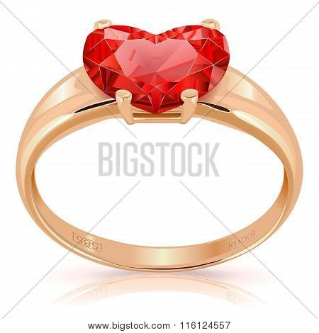 Vector Golden Ring With Ruby