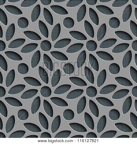 Seamless Flower Pattern. Vector Background