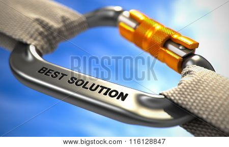 Chrome Carabiner Hook with Text Best Solution.