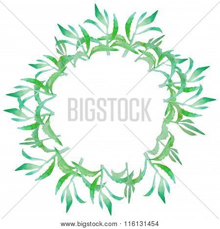 Watercolor succulent wreath