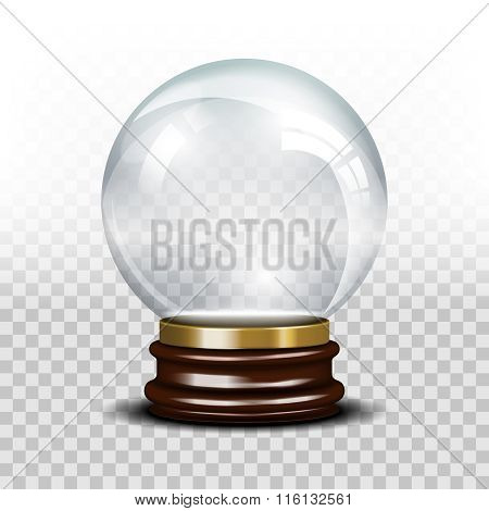 Vector glass empty snow globe