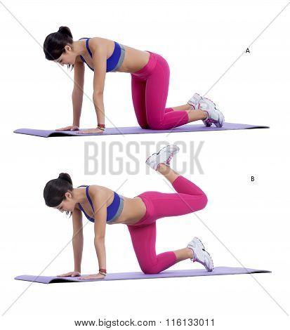 Plank Bent Leg