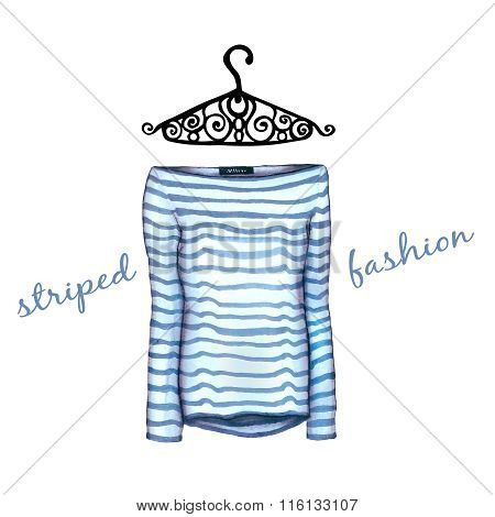 Striped Sweater And Openwork Hanger