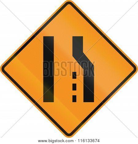 Temporary Road Control Version - Road Narrows