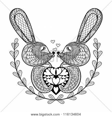 Hand drawn lovely rabbit
