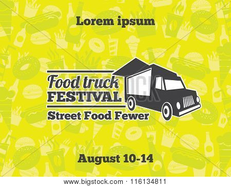 Urban, street food vector illustrations for poster