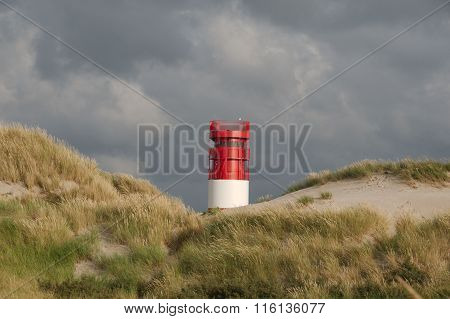 Lighthouse on Island Dune, Helgoland, Germany