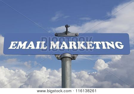 Email marketing road sign