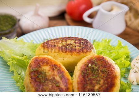 Potato Patties In The Studio