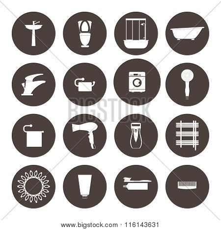 Bathroom Icons Set.Design .Healthcare