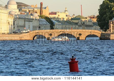 Out Pleasure Craft From The Fontanka To The Neva.