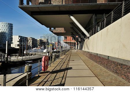 Modern Architecture At Traditionsschiffhafen At Sandtorhafen, Ha