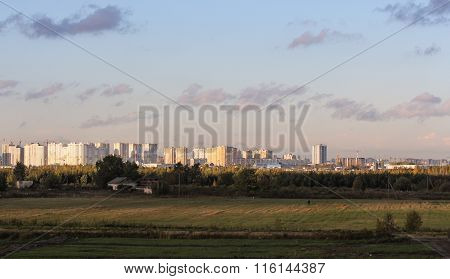 Residential Suburb Of St. Petersburg.