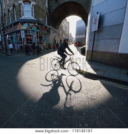 Bicyclist on the street