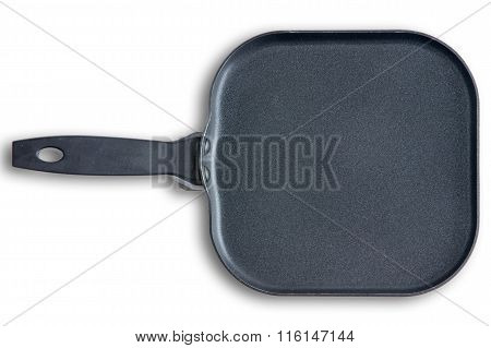 Square Kitchen Skillet With Chamfered Corners