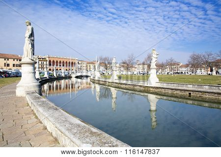 Prato Della Valle In Padua, Veneto, Italy.