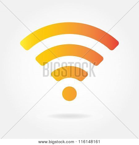 Wifi and wireless icon or sign for remote internet access. Podcast vector symbol.