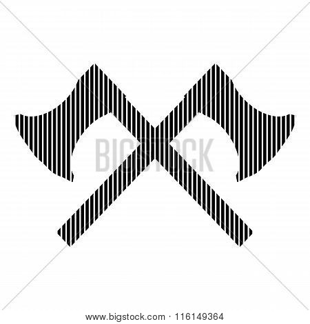 Crossed Axes Sign.