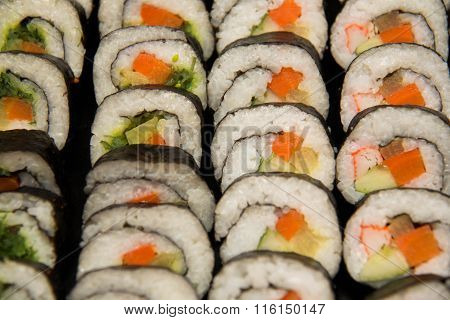 Sushi Platter With A Mixed Variety