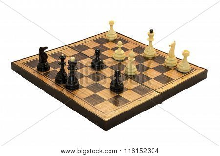 Chess board with chess figures