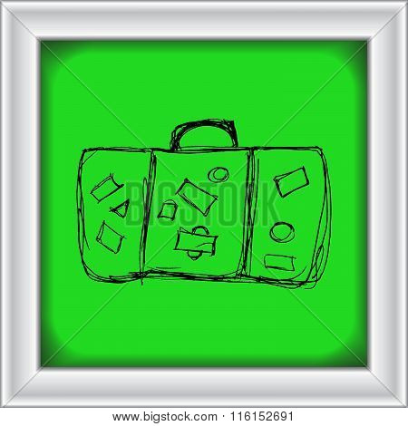 Illustration Of An Old Suitcase