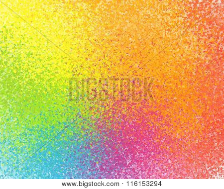 Rainbow colors vector sprayed paint abstract background