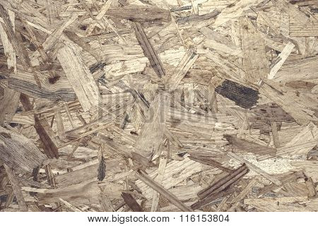 Pressed Wooden Panel Background, Seamless Texture Of Oriented Strand Board - Osb..