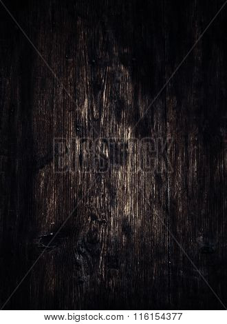 Old Vintage Wooden Textured Background. Rustic, Shabby, Dark Brown  Color