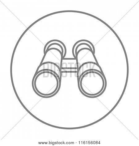Binocular line icon.