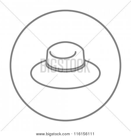 Summer hat line icon.