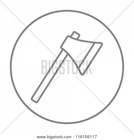Ax line icon.