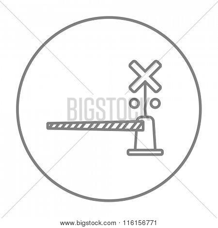 Railway barrier line icon.