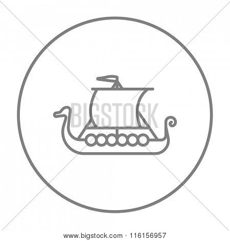 Old ship line icon.