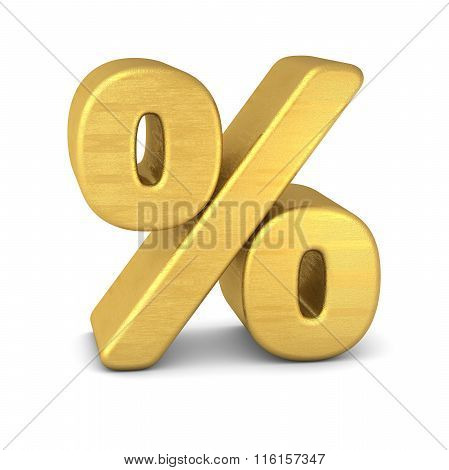 3d Symbol Percent Gold Vertical