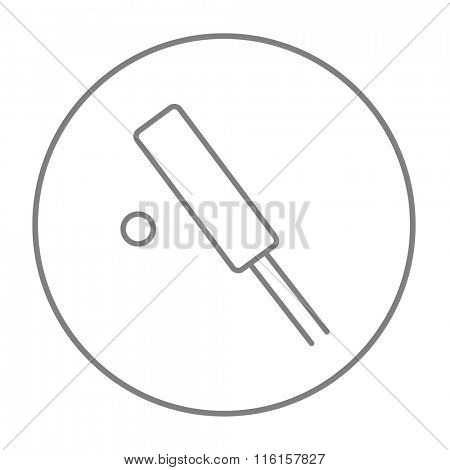 Cricket line icon.