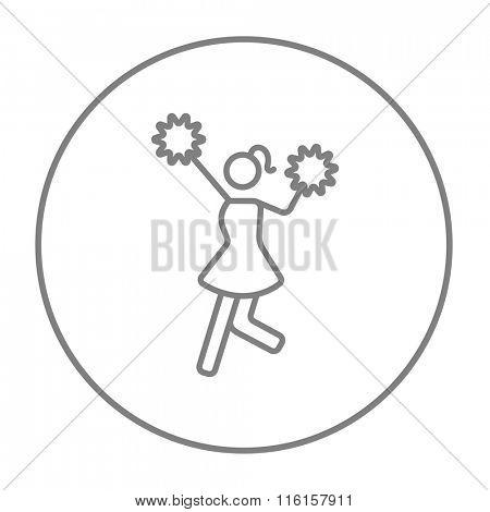 Cheerleader line icon.