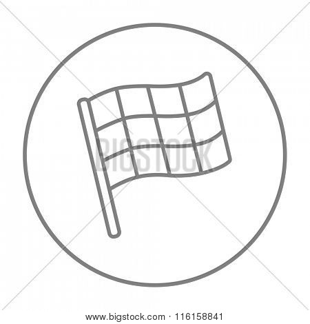 Checkered flag line icon.
