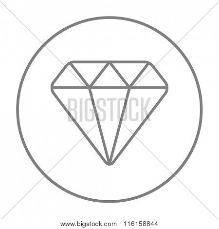 Diamond line icon.