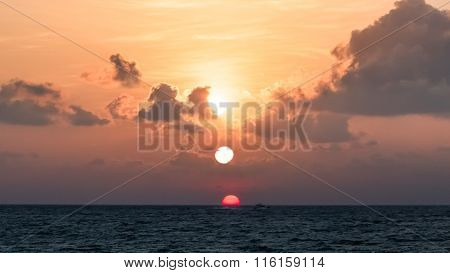 Beautiful Sunrise Over The Ocean