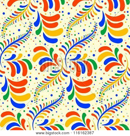Seamless Colorful Pattern With Stylized Droplets