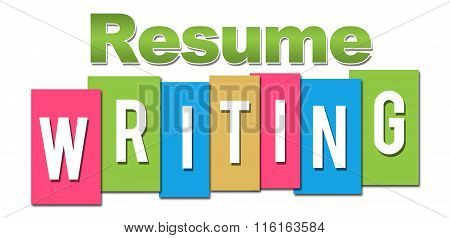Resume Writing Professional Colorful