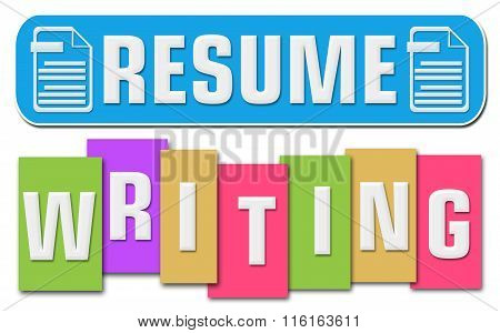 Resume Writing Colorful Stripe Square