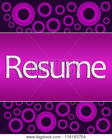Resume Purple Pink Rings Square