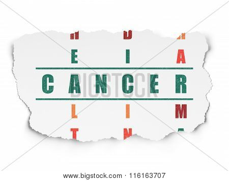Healthcare concept: Cancer in Crossword Puzzle
