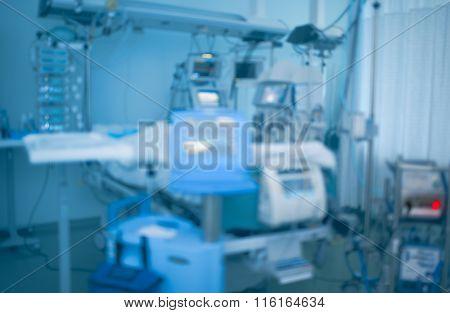 Medical Equipment In Modern Organized Hospital Ward