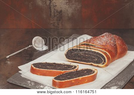 Strudel with poppy seeds and nuts